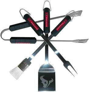 NFL Houston Texans 4 Piece BBQ Grilling Set
