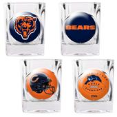 NFL Chicago Bears 4 Piece Shot Glass Set
