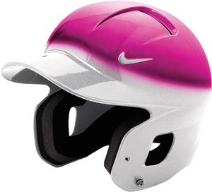 NIKE Show 2 Tone PINK/WHITE Batting Helmet