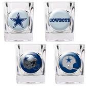 NFL Dallas Cowboys 4 Piece Shot Glass Set