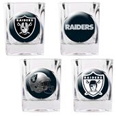 NFL Oakland Raiders 4 Piece Shot Glass Set