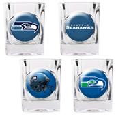 NFL Seattle Seahawks 4 Piece Shot Glass Set