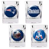NFL New England Patriots 4 Piece Shot Glass Set