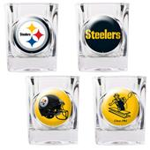 NFL Pittsburgh Steelers 4 Piece Shot Glass Set