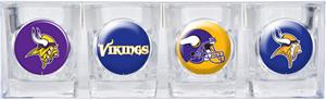 NFL Minnesota Vikings 4 Piece Shot Glass Set