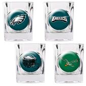 NFL Philadelphia Eagles 4 Piece Shot Glass Set