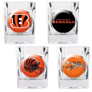 NFL Cincinnati Bengals 4 Piece Shot Glass Set