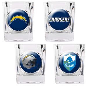 NFL L.A. Chargers 4 Piece Shot Glass Set