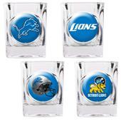 NFL Detroit Lions 4 Piece Shot Glass Set