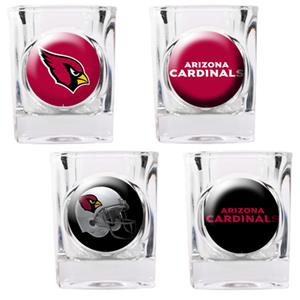 NFL Arizona Cardinals 4 Piece Shot Glass Set