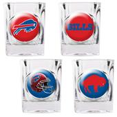NFL Buffalo Bills 4 Piece Shot Glass Set