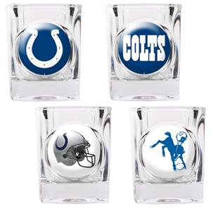 NFL Indianapolis Colts 4 Piece Shot Glass Set