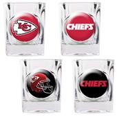 NFL Kansas City Chiefs 4 Piece Shot Glass Set