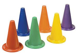 Champion 12&quot; Soft Vinyl Field Cones - Set of 6
