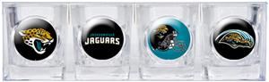 NFL Jacksonville Jaguars 4 Piece Shot Glass Set