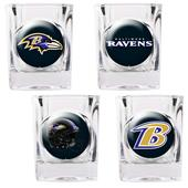 NFL Baltimore Ravens 4 Piece Shot Glass Set