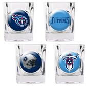 NFL Tennessee Titans 4 Piece Shot Glass Set