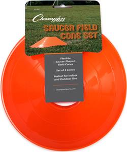 "Champion Sports 9"" Saucer Field Cone Set of 4"
