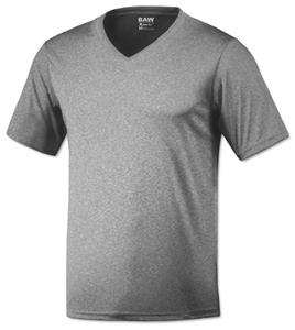 Baw Men's SS Xtreme-Tek V-Neck Heather T-Shirts