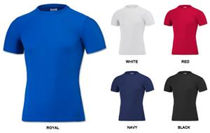 Baw Men's Short Sleeve Compression Cool-Tek Shirts