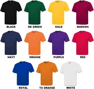 Baw Men's Short Sleeve Loose-Fit Cool-Tek T-Shirts