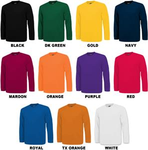 Baw Men's Long Sleeve Loose-Fit Cool-Tek T-Shirts