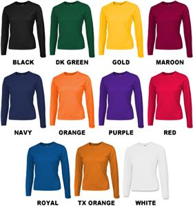 Baw Ladies Long Sleeve Loose-Fit Cool-Tek T-Shirts