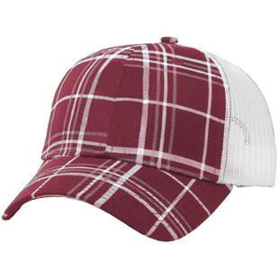 Richardson Plaid Front/Mesh Back Adjustable Caps