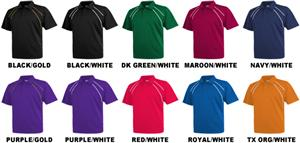 Baw Men's SS Dual Line Cool-Tek Polo Shirts