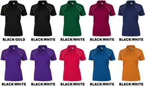 Baw Ladies SS Dual Line Cool-Tek Polo Shirts