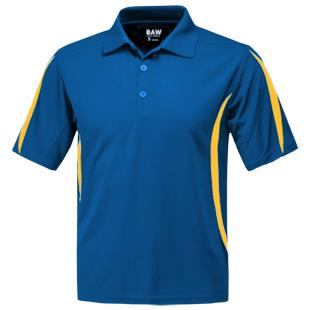 Baw Men's SS Crescent Cool-Tek Polo Shirts
