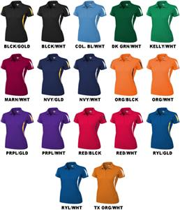 Baw Ladies SS Crescent Cool-Tek Polo Shirts