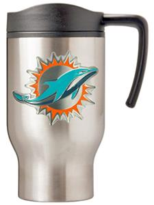 NFL Miami Dolphins Stainless Steel Travel Mug