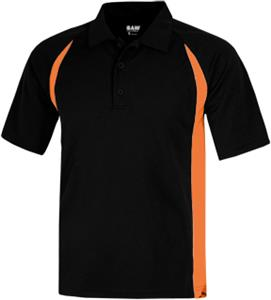 Baw Men's SS Color Body Cool-Tek Polo Shirts