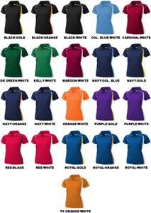 Baw Ladies SS Color Body Cool-Tek Polo Shirts