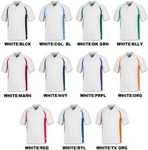 Men's SS White Body Cool-Tek Polo Shirts