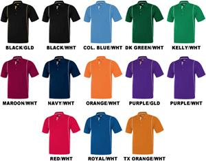 Baw Men's SS Color Rib Shoulder Cool-Tek Polos