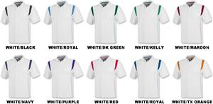 Men's SS White Rib Shoulder Cool-Tek Polo Shirts