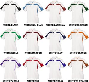 Ladies SS White Body Eagle Cool-Tek Polo Shirts