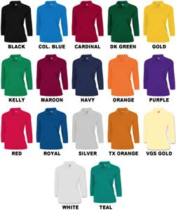 Ladies 3/4 Sleeve Xtreme-Tek Polo Shirts