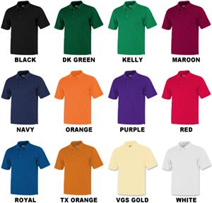 Baw Men's Short Sleeve Solid Cool-Tek Polo Shirts