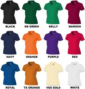 Ladies SS Solid Cool-Tek Polo Shirts