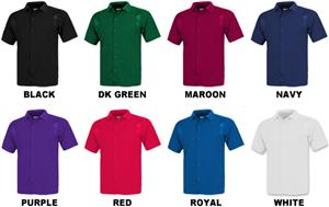 Baw Men's SS Full Button Cool-Tek Polo Shirts