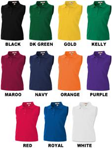 Girl's Sleeveless Polo Shirts