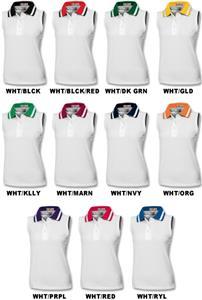 Girl's Sleeveless Stripe Collar Polo Shirts
