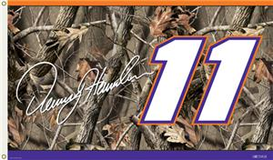 NASCAR Denny Hamlin Realtree Camo 2-Sided Flag