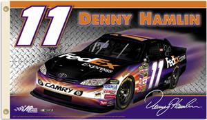 NASCAR Denny Hamlin #11 2011 2-Sided Flag