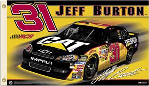 NASCAR Jeff Burton #31 2011 2-Sided Flag