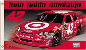 NASCAR Juan Pablo Montoya #42 2011 2-Sided Flag