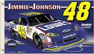 NASCAR Jimmie Johnson #48 2011 2-Sided Flag